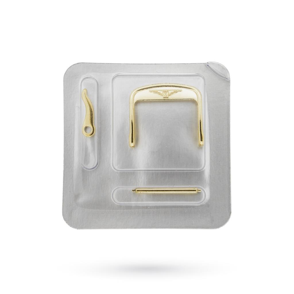 Fibbia Longines 18mm originale in acciaio PVD oro giallo - LONGINES
