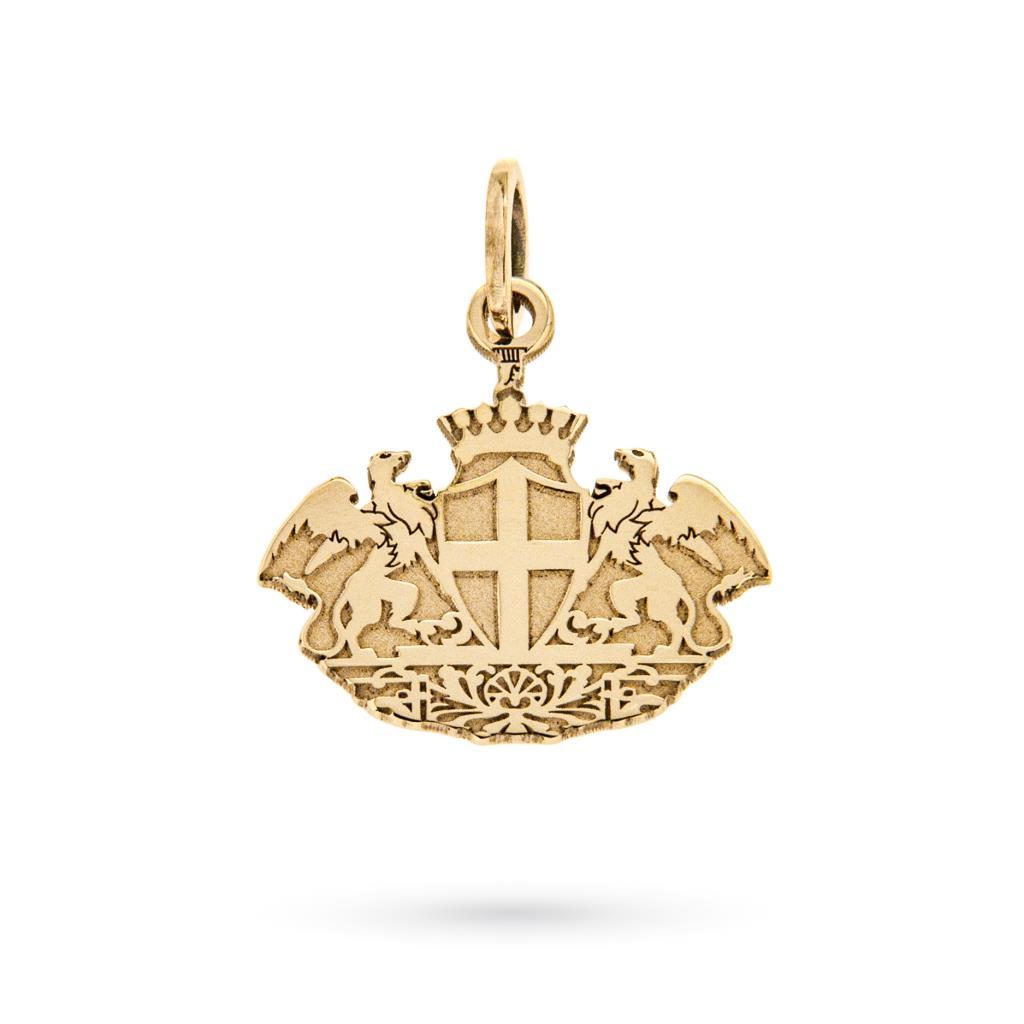 Ciondolo stemma di Genova in oro giallo 18kt - CICALA