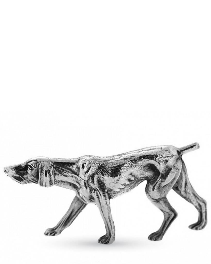 Cane da caccia soprammobile in argento - UNBRANDED