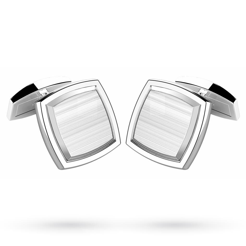 Gemelli quadrati in argento 925 satinato - ZANCAN