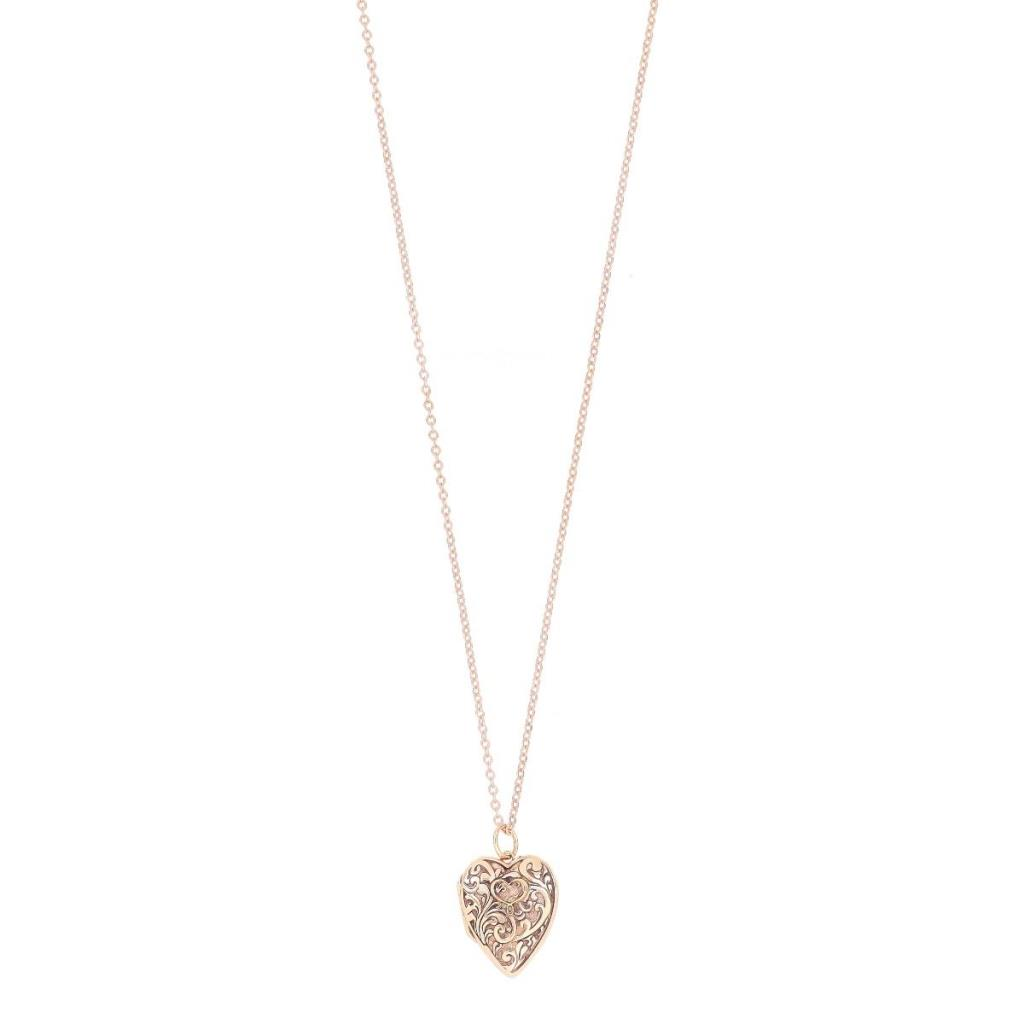 Victorian openable heart locket necklace in sterling silver - MAMAN ET SOPHIE