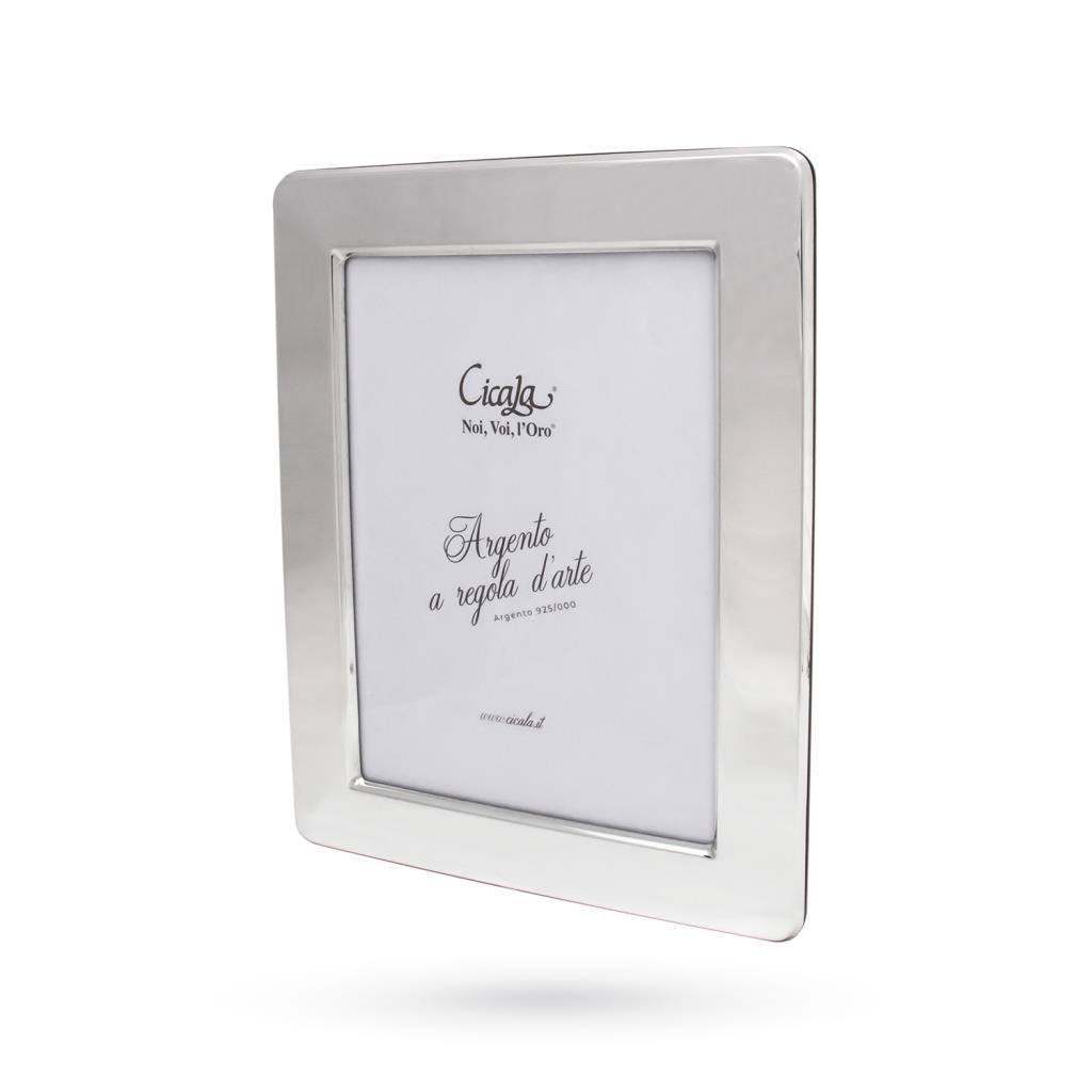 Cornice portafoto argento 13x18 cm lucida - CICALA