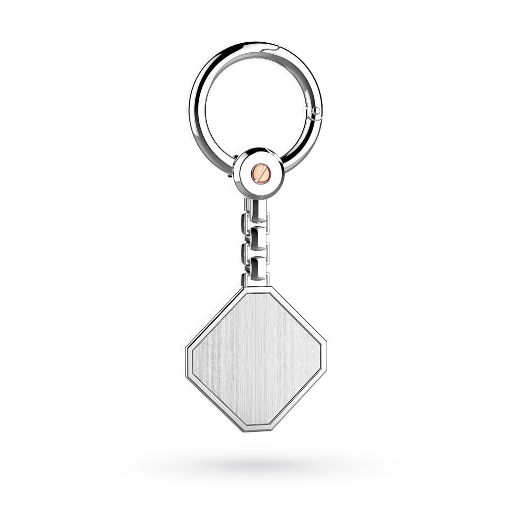 Portachiavi Zancan ESP006R in argento satinato  - ZANCAN