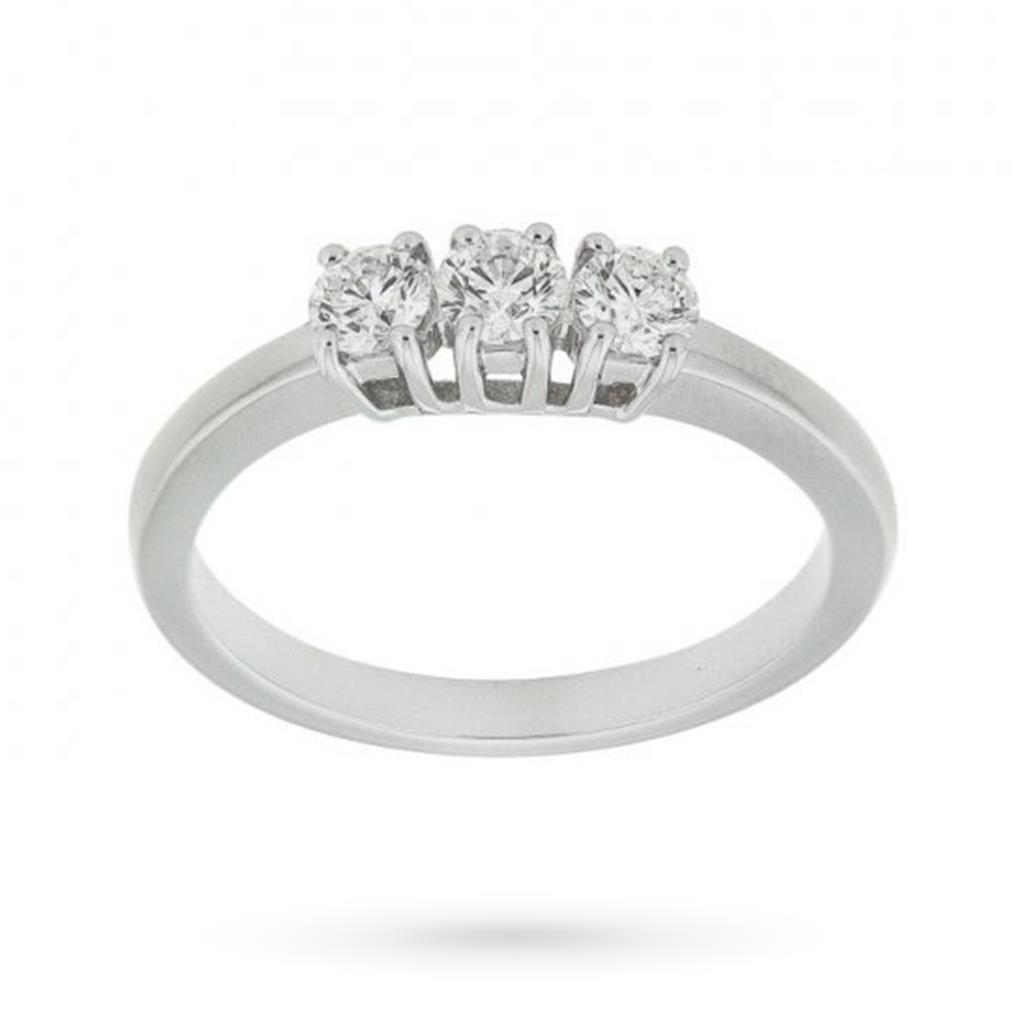 Anello trilogy con diamanti ct 0,45 G VS - MIRCO VISCONTI