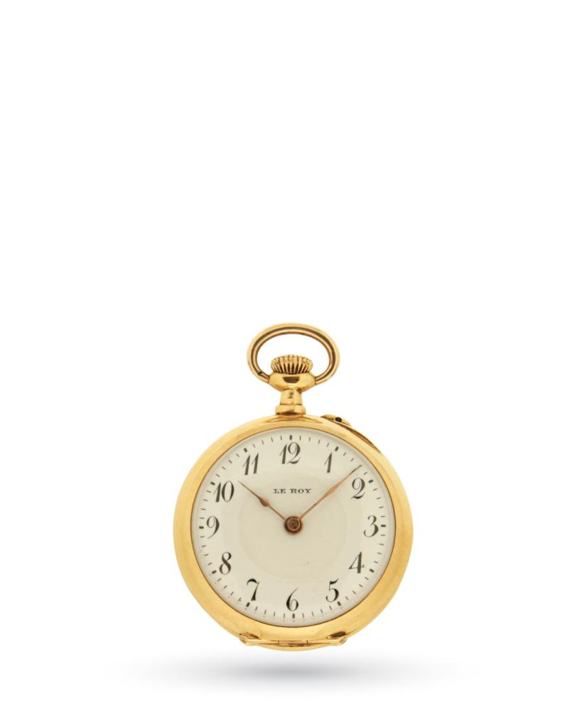Le Roy vintage pocket watch in 18kt yellow gold - UNBRANDED