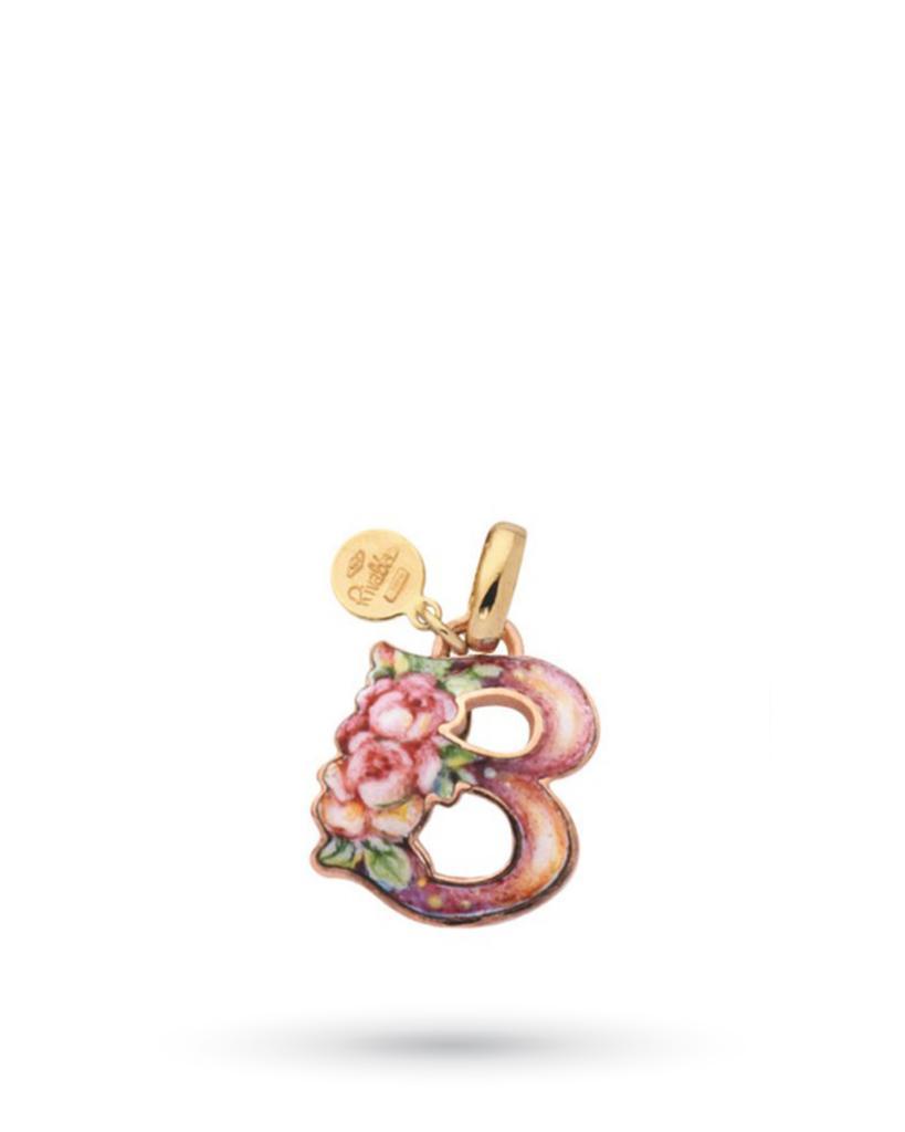 18kt yellow gold and copper Gabriella Rivalta Initial Letter B pendant - GABRIELLA RIVALTA