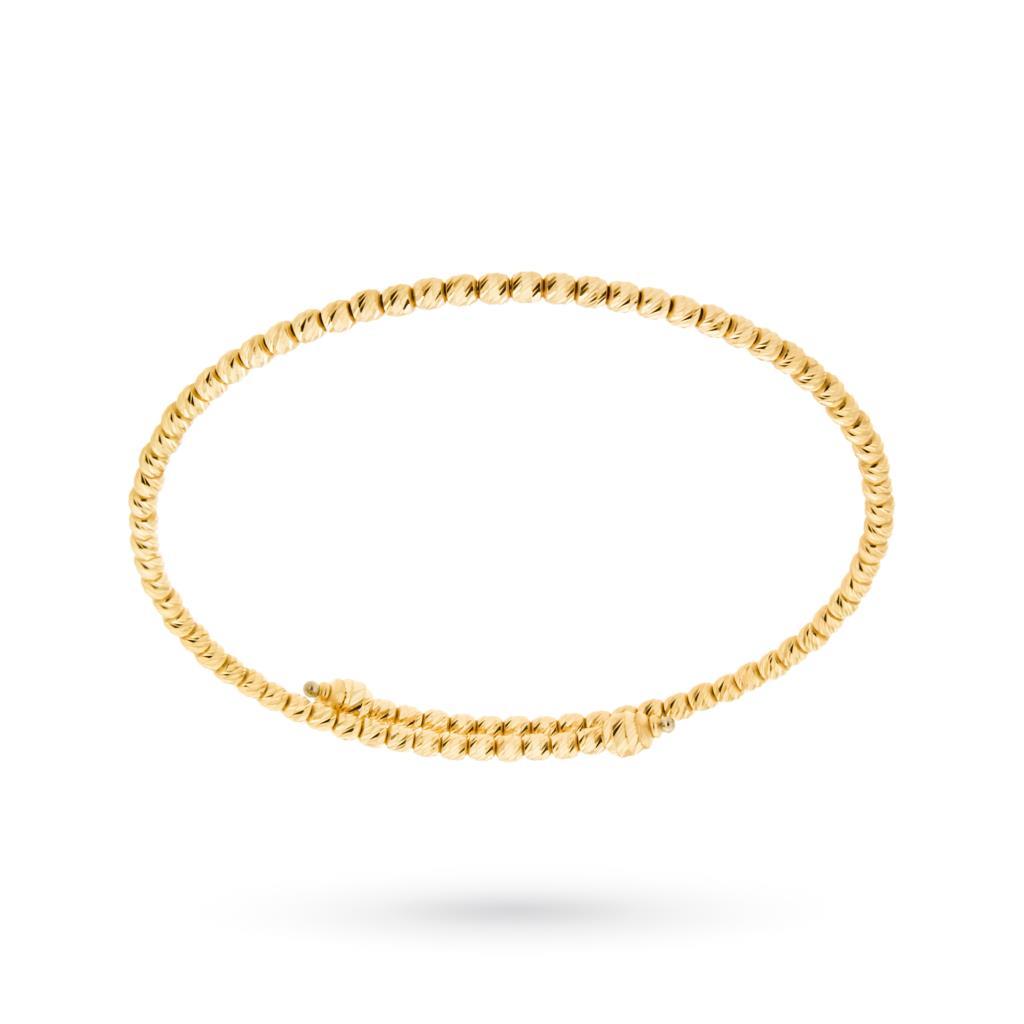 Bracciale rigido diamantato in oro giallo 18kt - CICALA