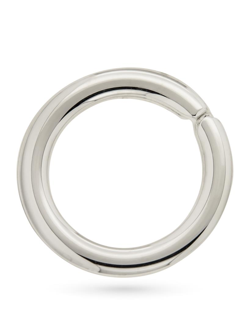 Anello portachiavi in argento grande liscio - CICALA