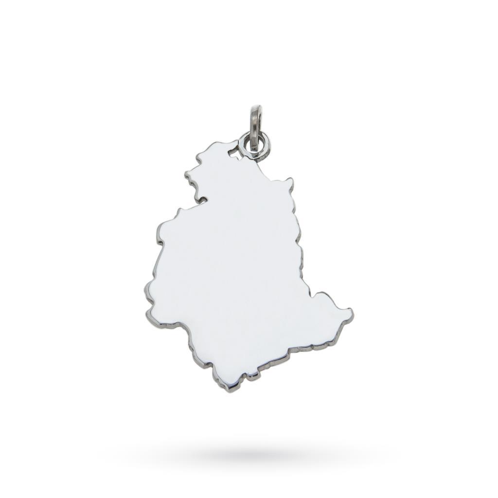 Umbria region pendant in 925 silver - CICALA