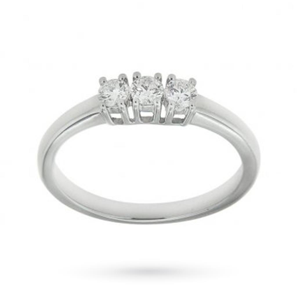 Anello trilogy con diamanti ct 0,31 F VS - MIRCO VISCONTI