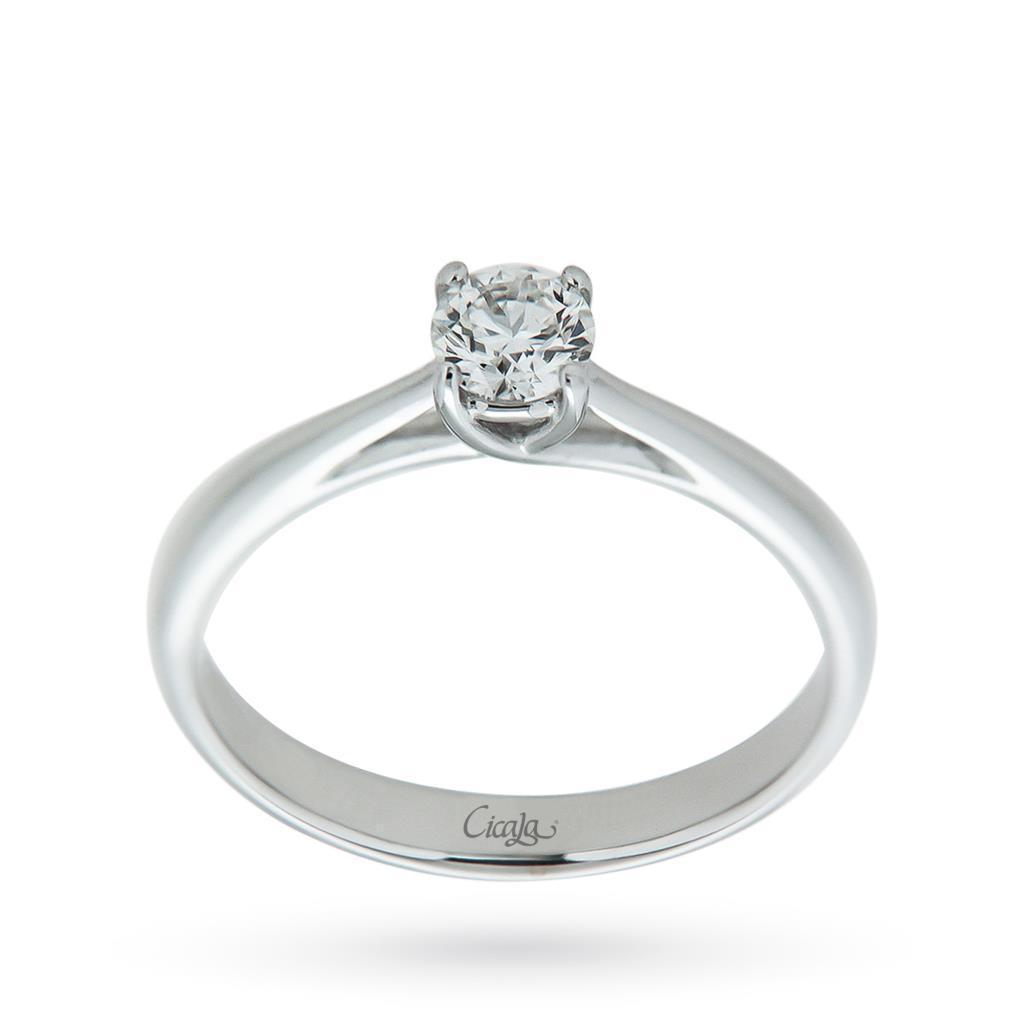 Anello di fidanzamento Afrodite con diamante 0,40ct G VS - CICALA