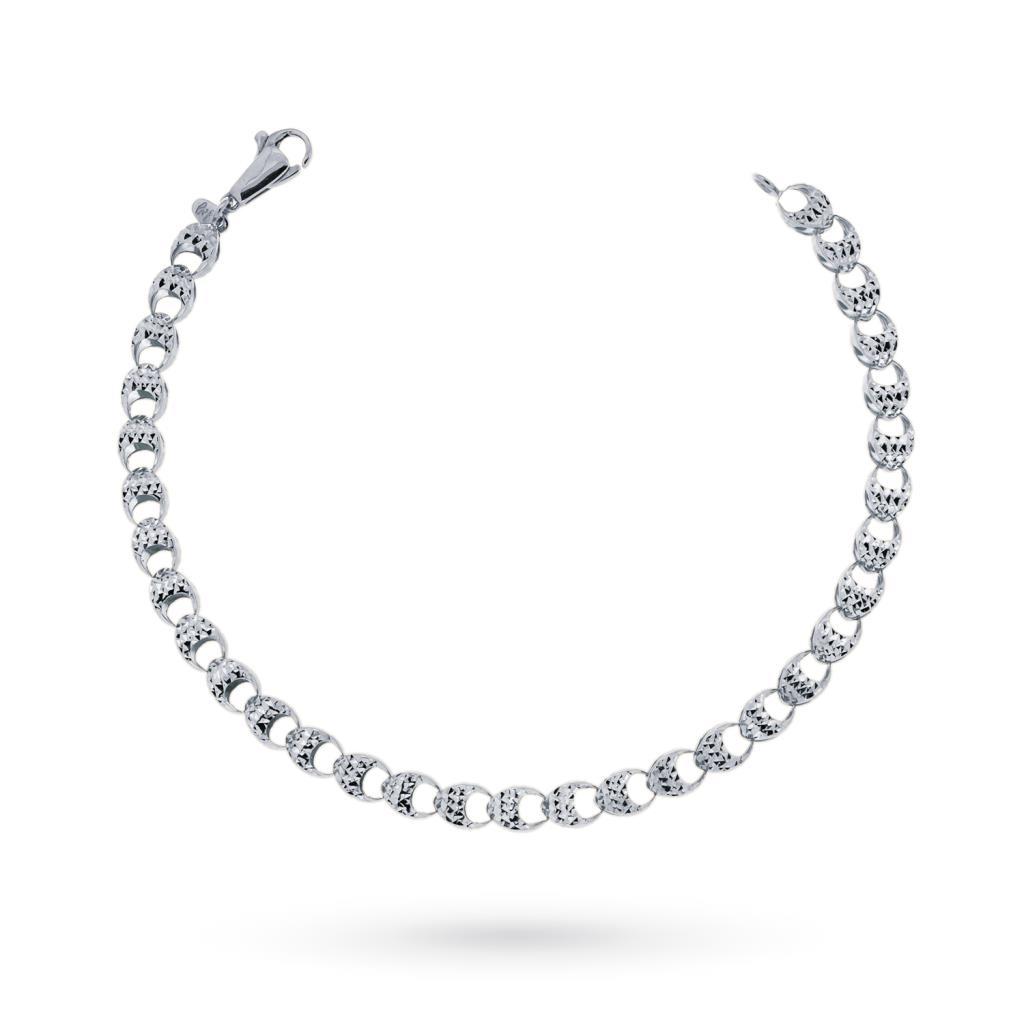 18kt white gold bracelet with diamond link - CICALA