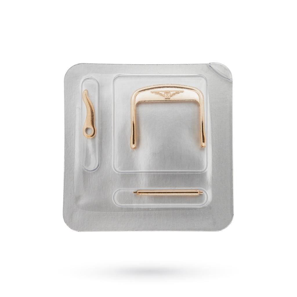 Fibbia Longines 18mm originale in acciaio PVD oro rosa - LONGINES