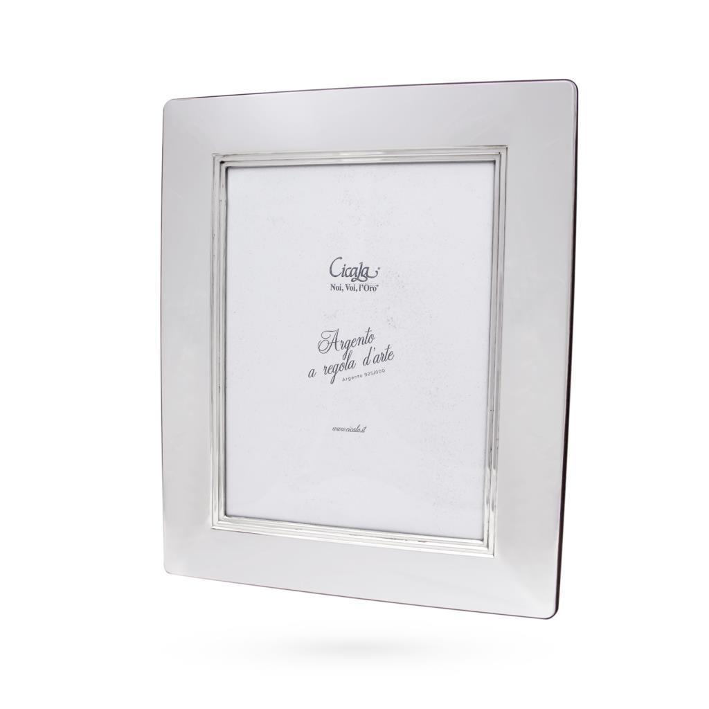 Silver photo frame 18x24 cm smooth - CICALA