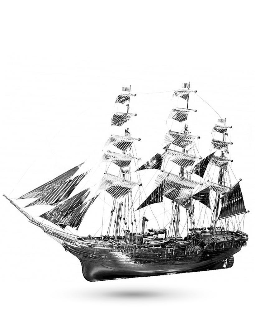 Soprammobile Veliero Amerigo Vespucci in argento  - ITALO GORI