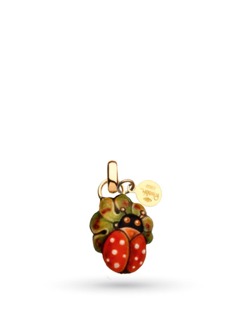 18kt yellow gold and copper Gabriella Rivalta Ladybug pendant - GABRIELLA RIVALTA