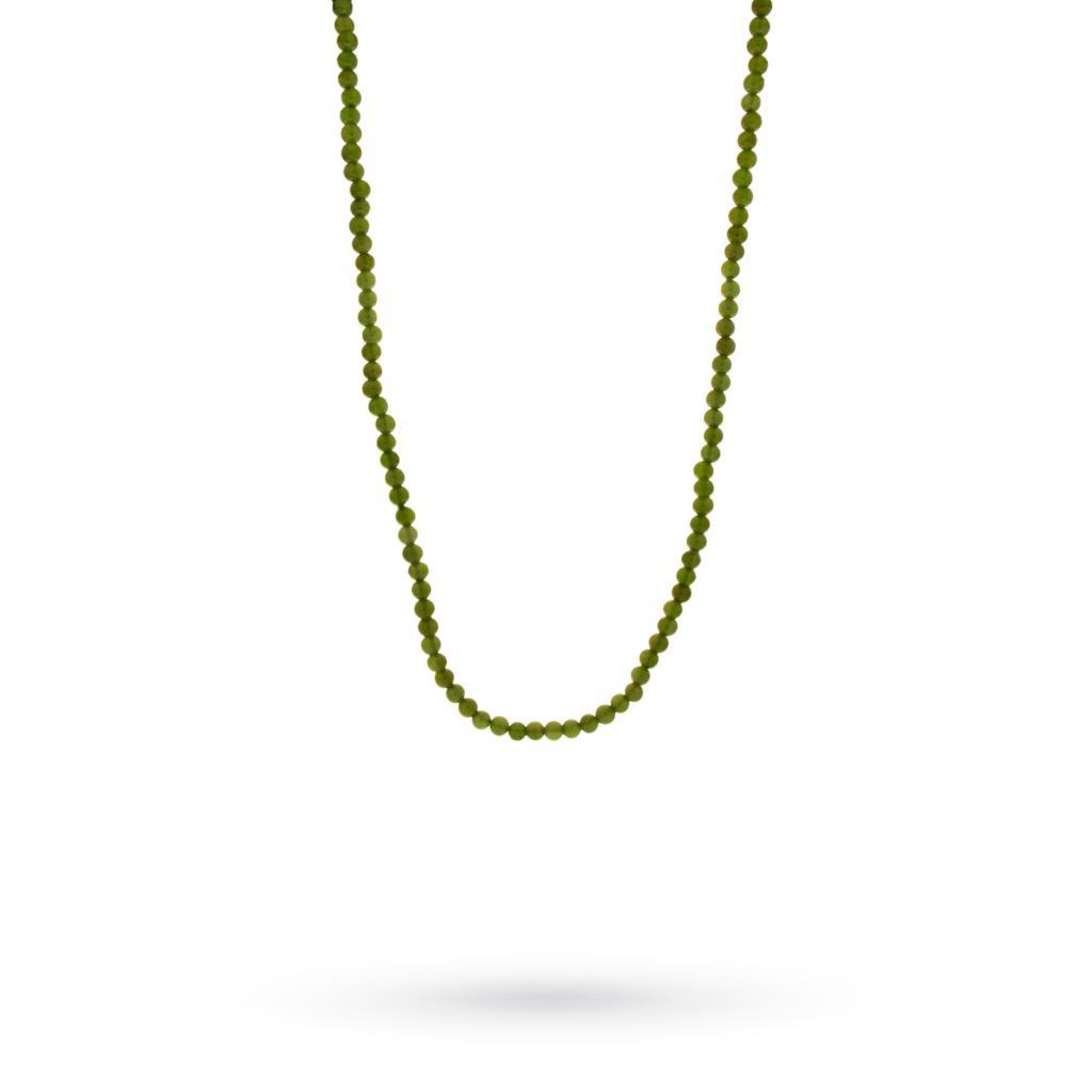 Filo di sferette piccole di agata verde 42cm - UNBRANDED