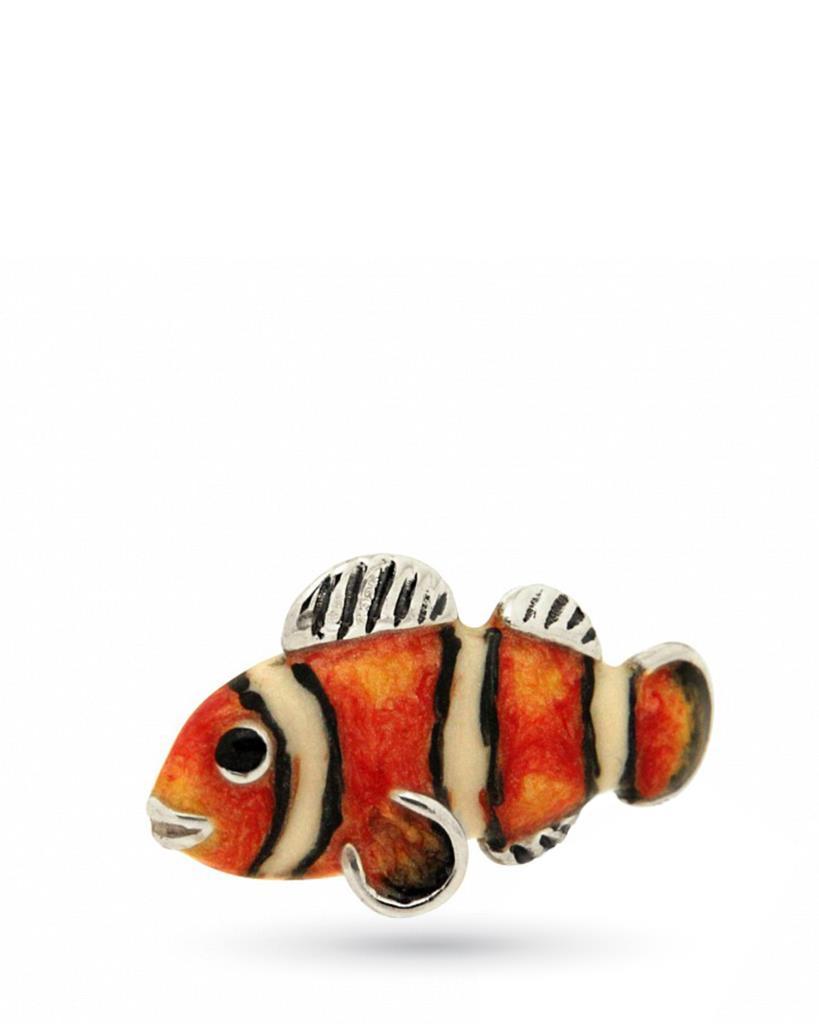Pesce pagliaccio mini rosso soprammobile argento e smalto - SATURNO