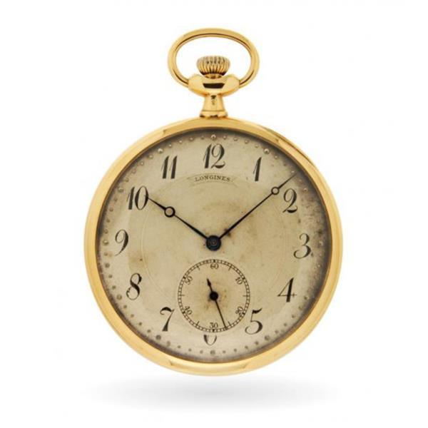 Orologio da tasca Longines 1910 in oro giallo 18kt - LONGINES