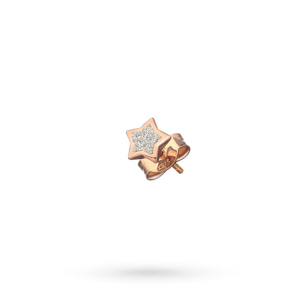 Orecchino singolo Dodo Mariani stellina diamantata oro rosa - DODO MARIANI