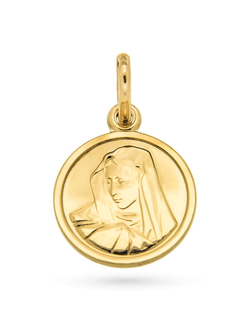 Medaglietta con Madonnina in oro giallo 18kt Ø 1,2cm - UNBRANDED