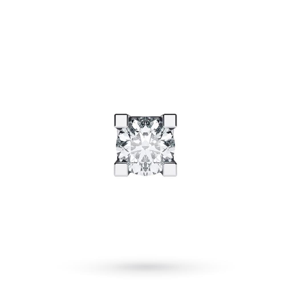 Orecchino singolo da uomo in oro bianco con diamante ct 0,12 G VS - CICALA