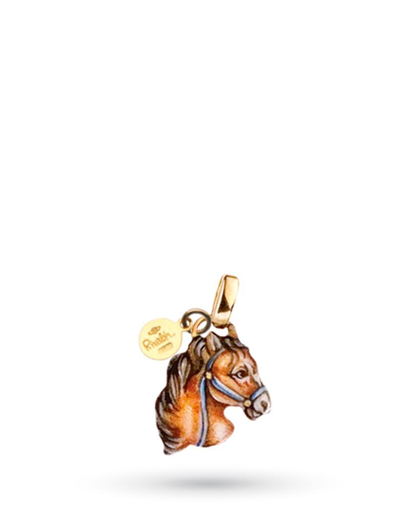18kt yellow gold and copper Gabriella Rivalta horse pendant - GABRIELLA RIVALTA