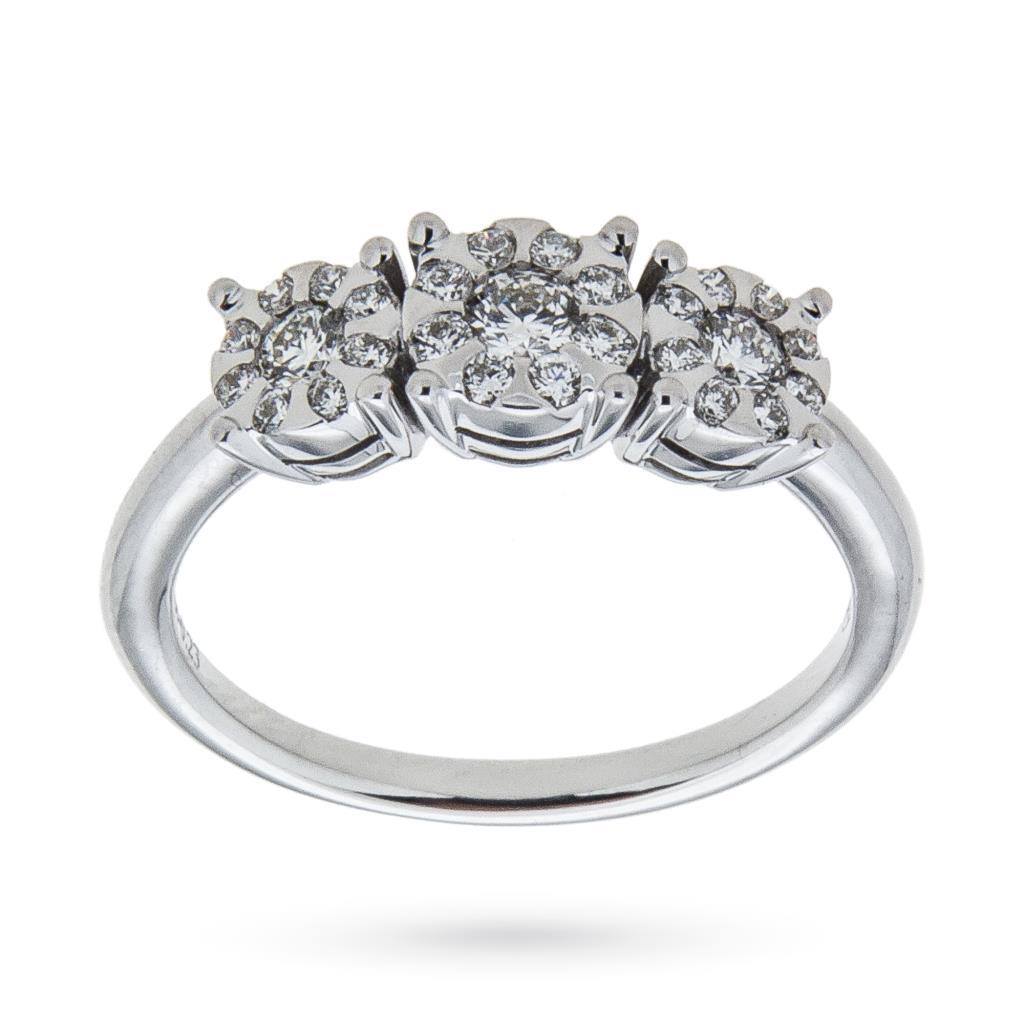Anello trilogy con diamanti ct 0,47 G VS - MIRCO VISCONTI