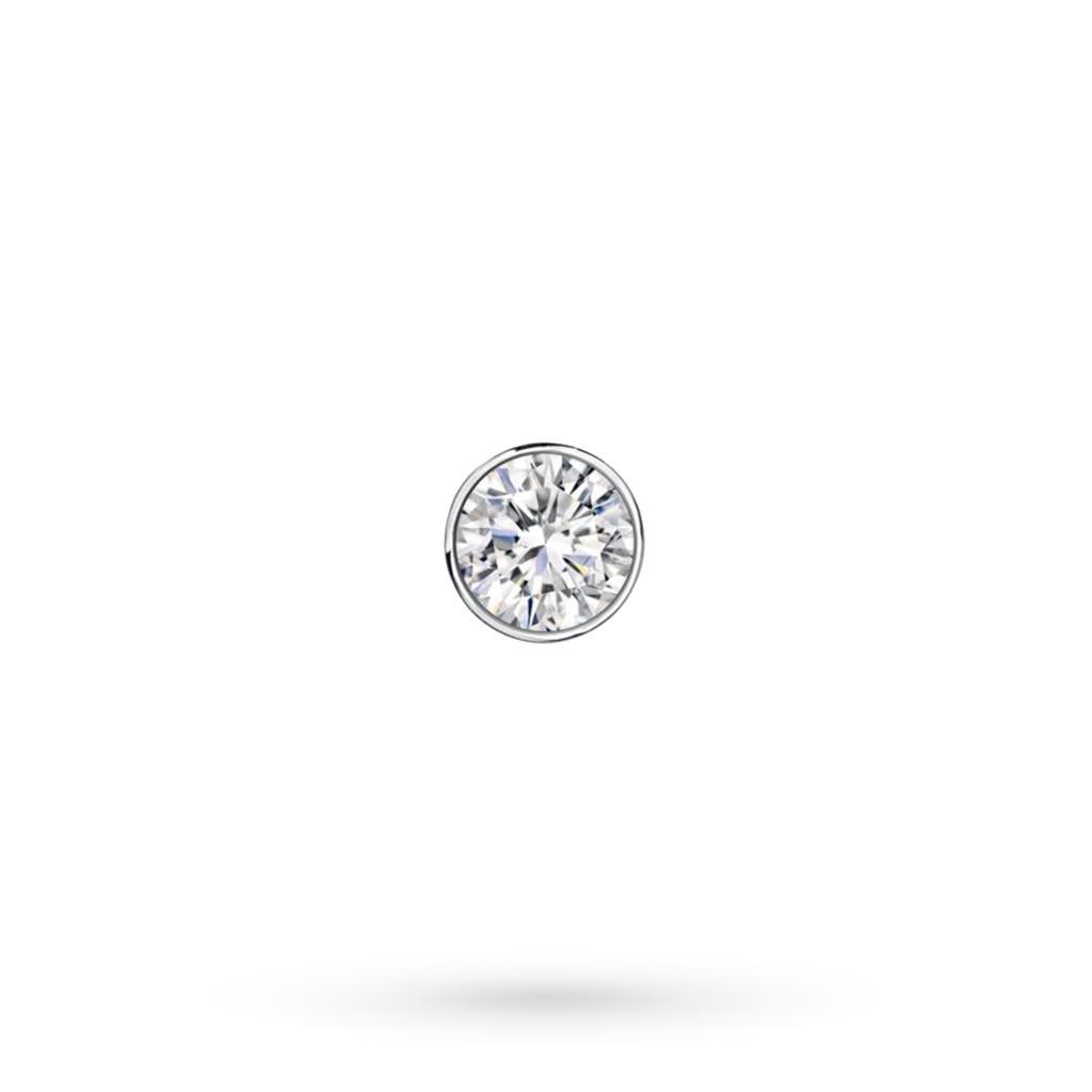 Orecchino singolo da uomo in oro bianco con diamante ct 0,08 D VS - CICALA