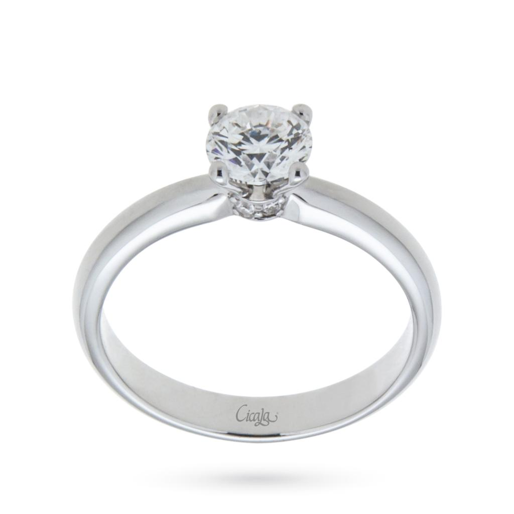 Engagement ring with diamond Elune collection 0,70ct D VS  - CICALA