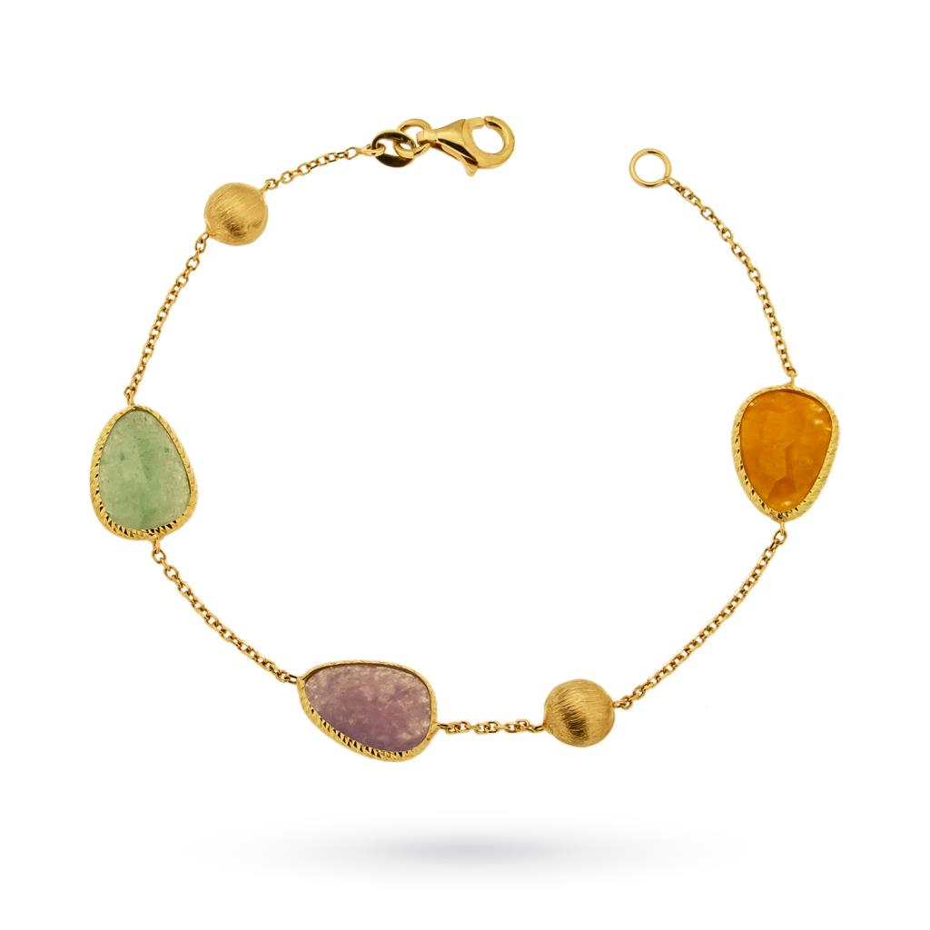 18kt yellow gold bracelet with colored stones - CICALA
