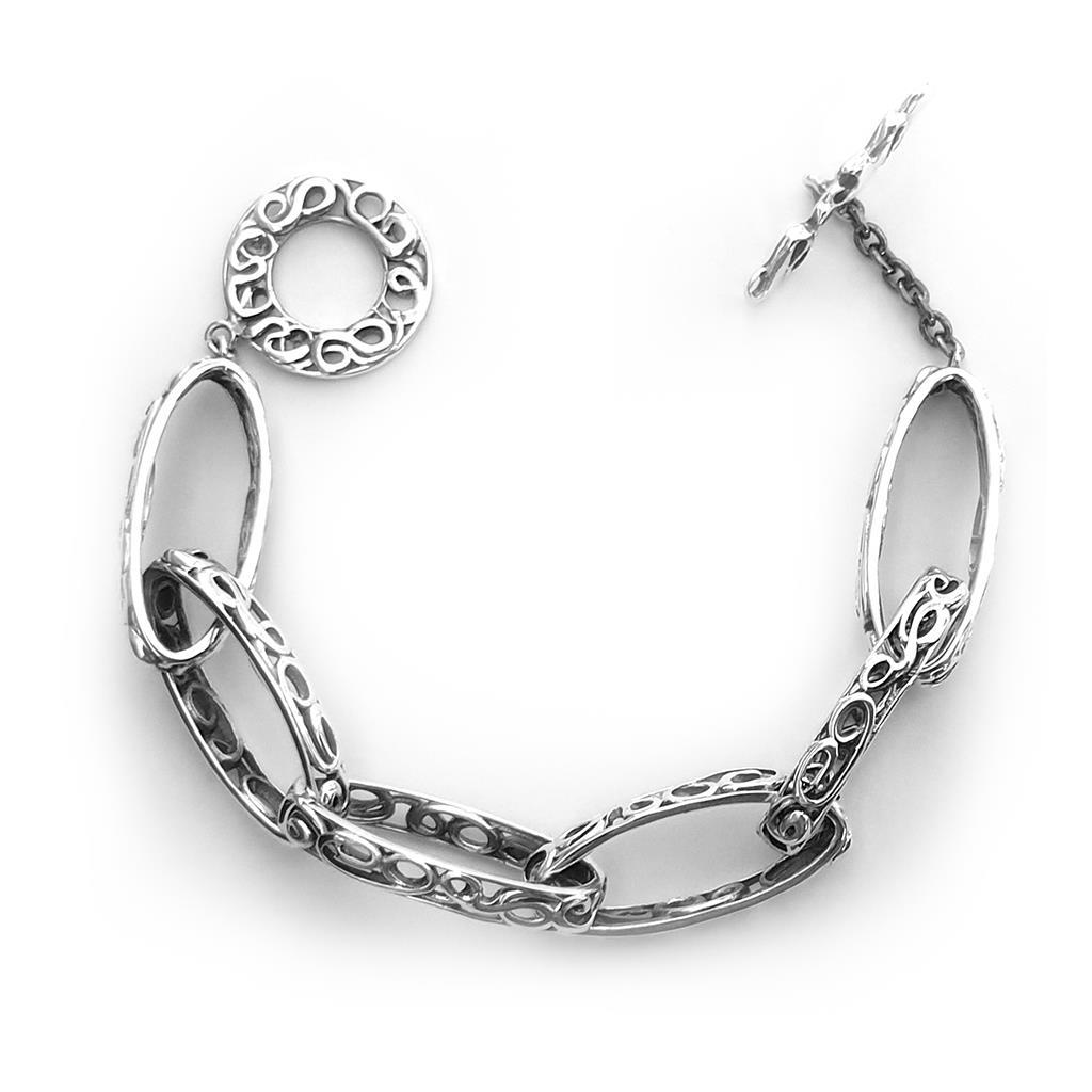 Bracciale catena in argento brunito 925  - MARESCA OFFICINE ORAFE