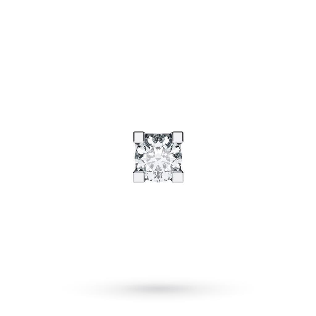 Orecchino singolo da uomo in oro bianco con diamante ct 0,04 G VS - CICALA