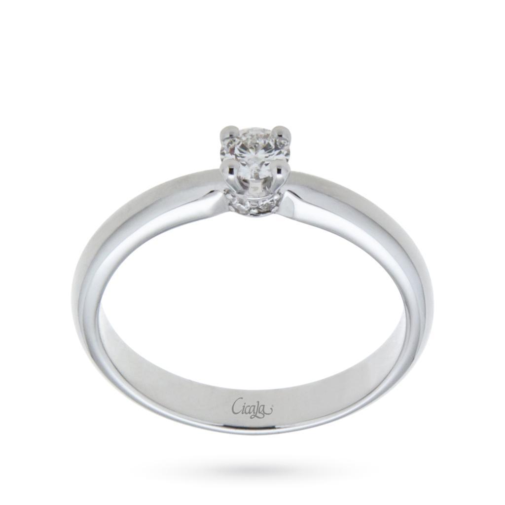 Anello di fidanzamento Elune con diamante 0,30ct D VS - CICALA