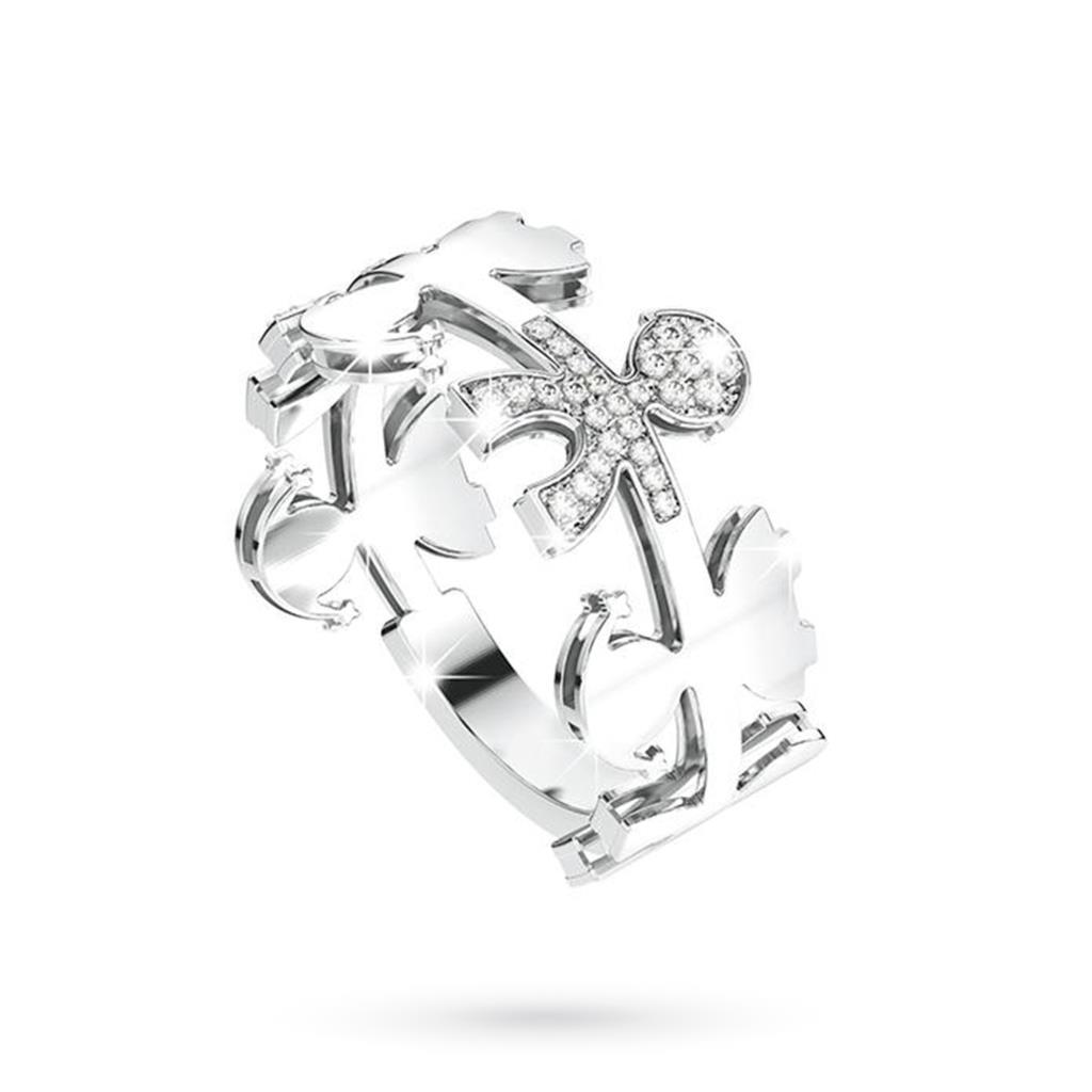 Anello leBebe LBB084  Le Ghirlande in oro bianco 18kt con diamanti - LE BEBE