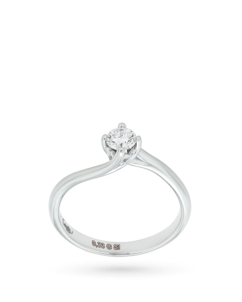 Anello solitario in oro con diamante 0,33ct G SI - CICALA