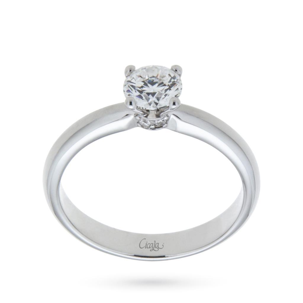 Anello di fidanzamento Elune con diamante 0,60ct D VS - CICALA