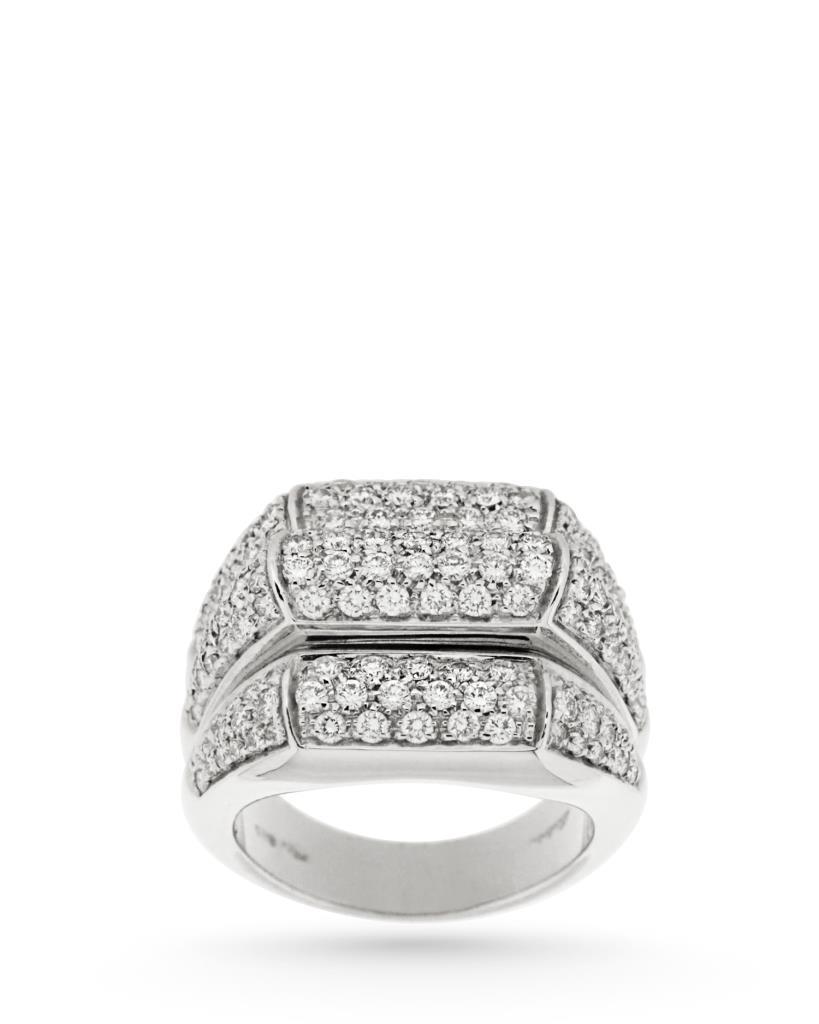 Anello in oro bianco e diamanti 1,60ct - SALVINI