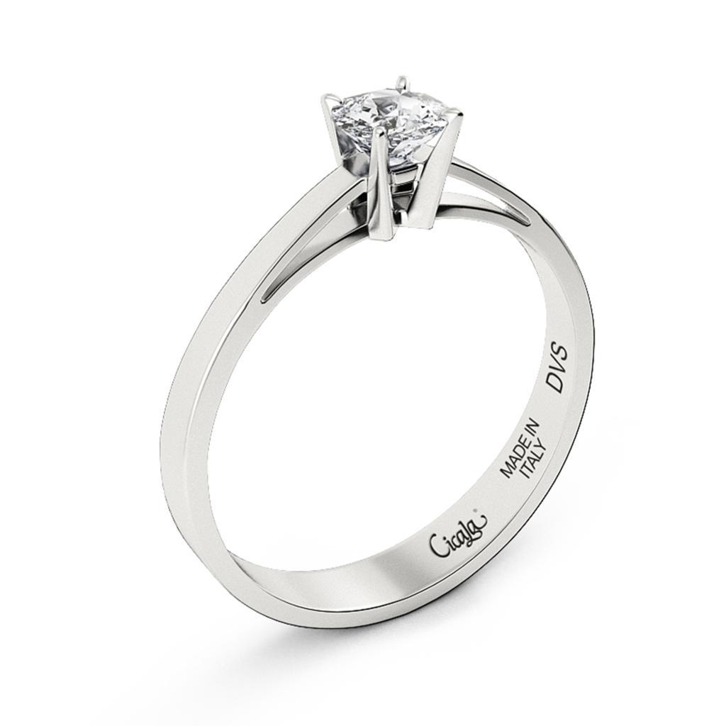 Anello di fidanzamento D Color con diamante 0,90ct D VS - CICALA