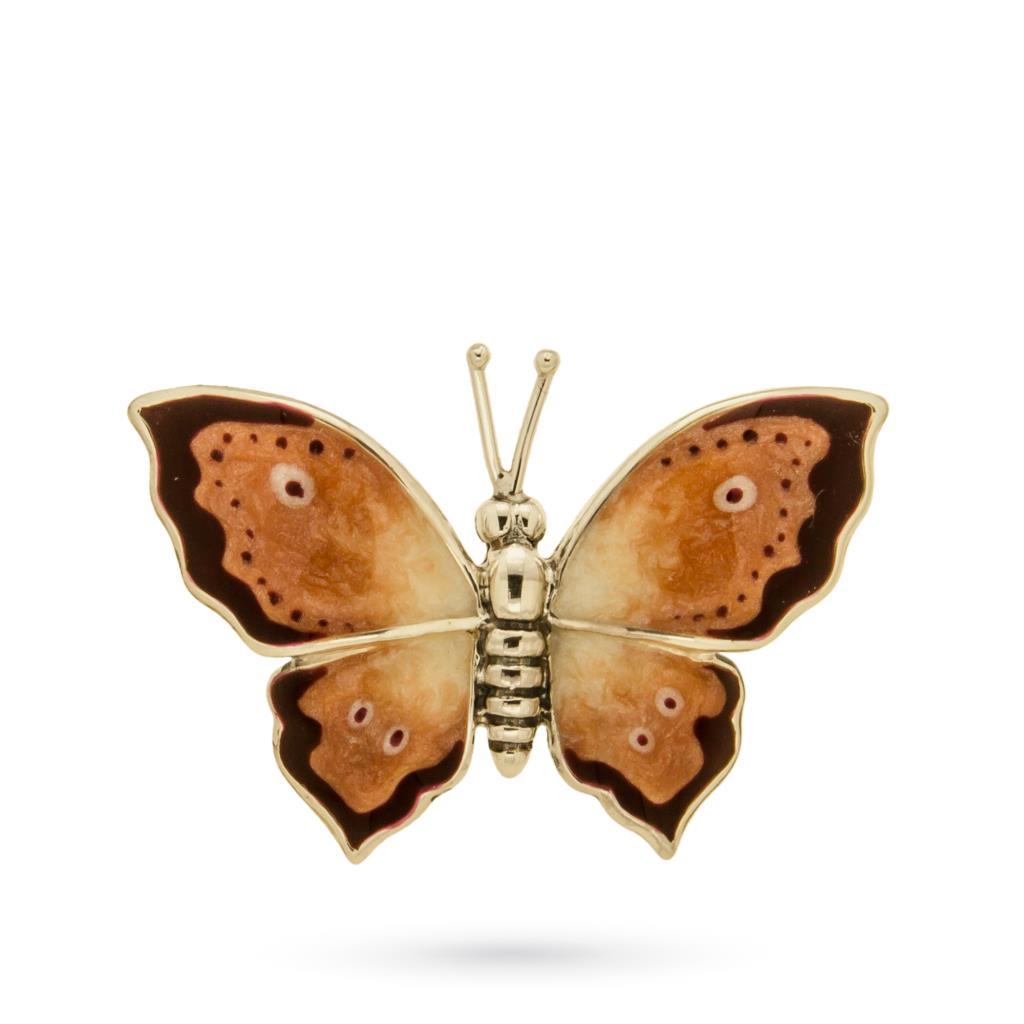 Soprammobile farfalla in argento smaltato a mano misura piccola - SATURNO