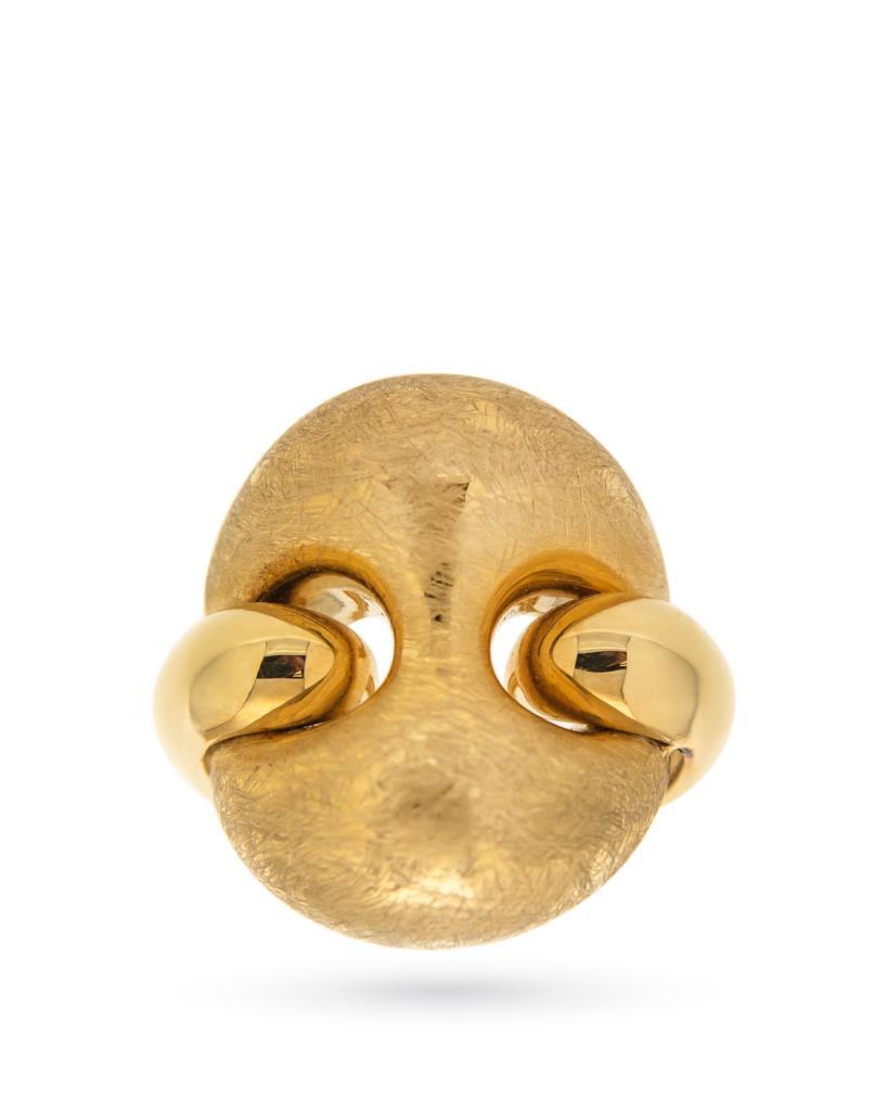 Anello in oro giallo 18kt con maglia marina - UNBRANDED