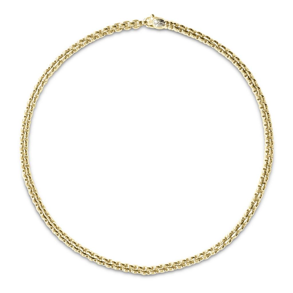 18kt yellow gold FOPE necklace cardano chain 43cm - FOPE