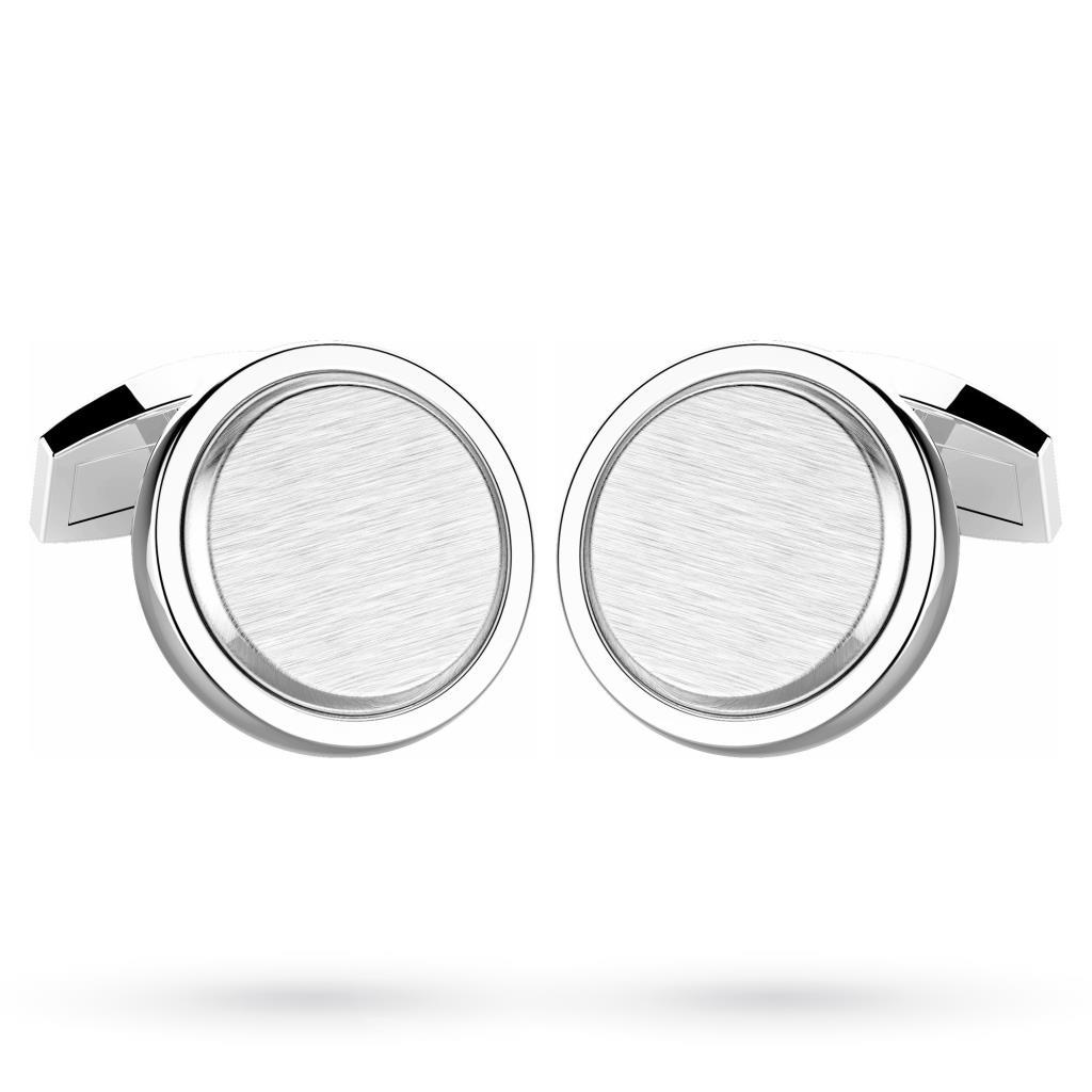 Gemelli tondi in argento 925 satinato - ZANCAN