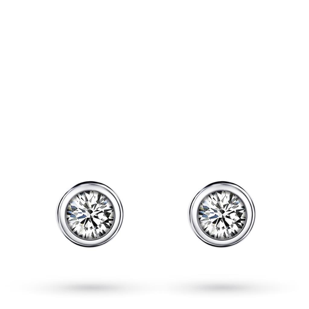 Orecchini in oro bianco con diamanti ct 0,26 G VS - MIRCO VISCONTI