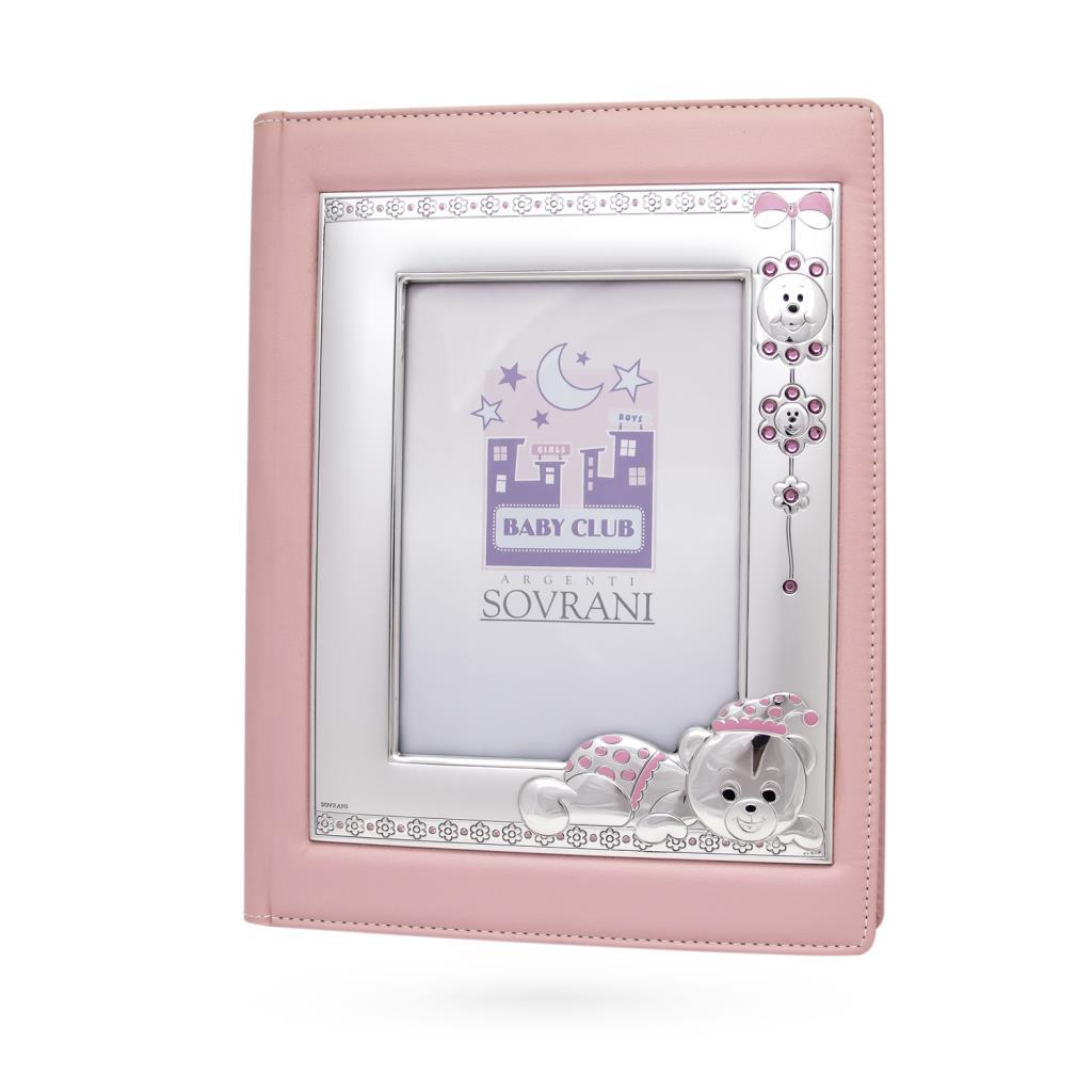 Photo album with silver frame 13x18cm teddy bear - SOVRANI