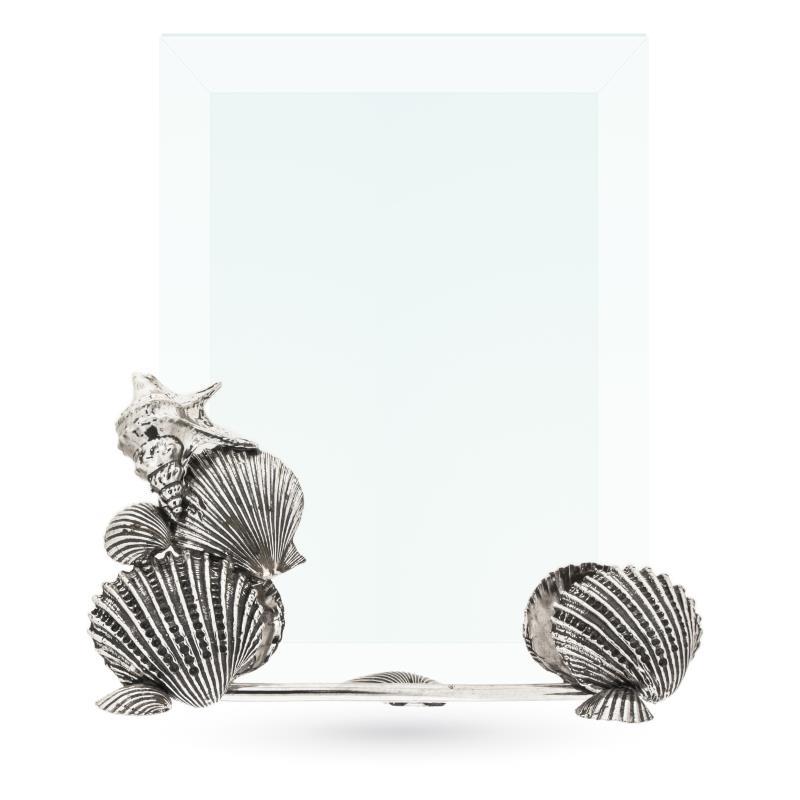 Cornice con vetro e conchiglie in argento 13x18cm - ITALO GORI