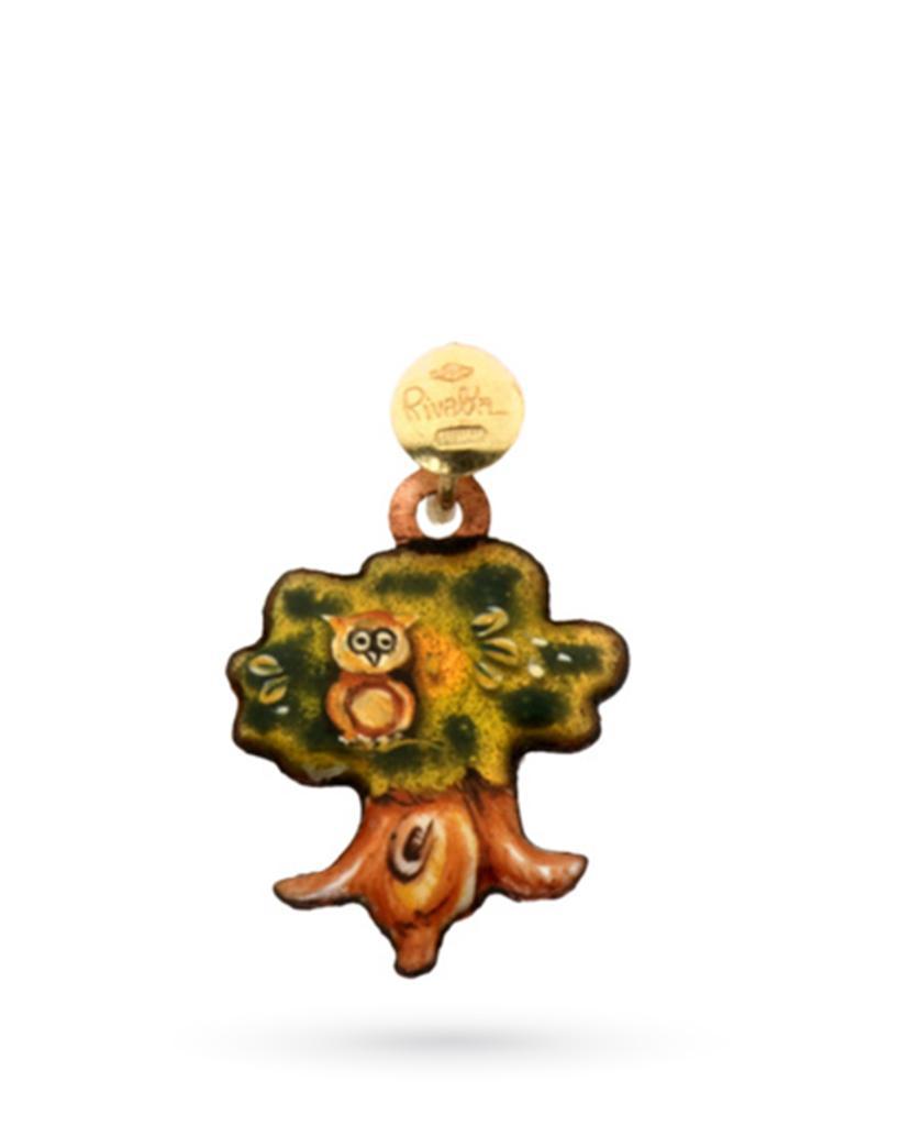 18kt yellow gold and copper Gabriella Rivalta Magic Oak charm - GABRIELLA RIVALTA