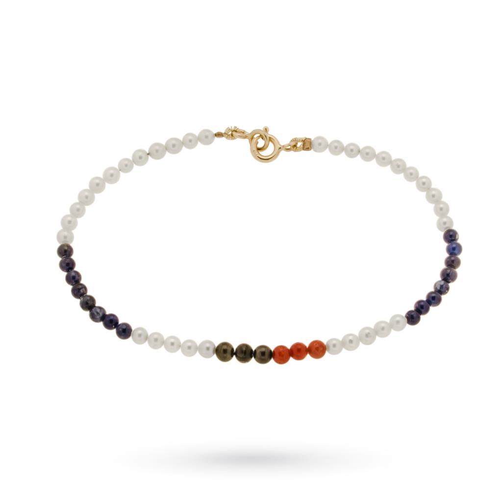Braccialetto perle con colori della Sampdoria - CICALA