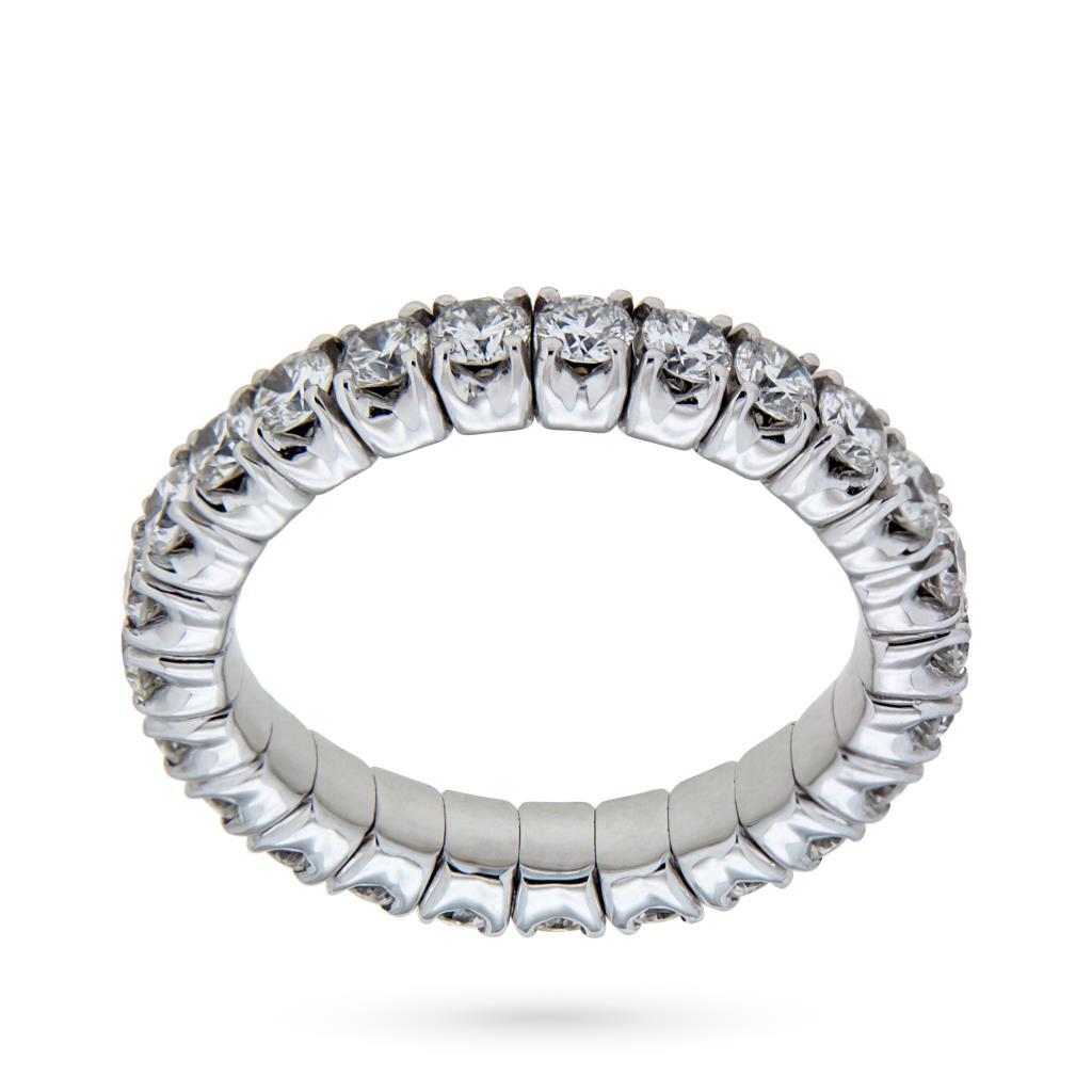 Anello eternity elastica con diamanti ct 1,75 G VS - ORO TREND