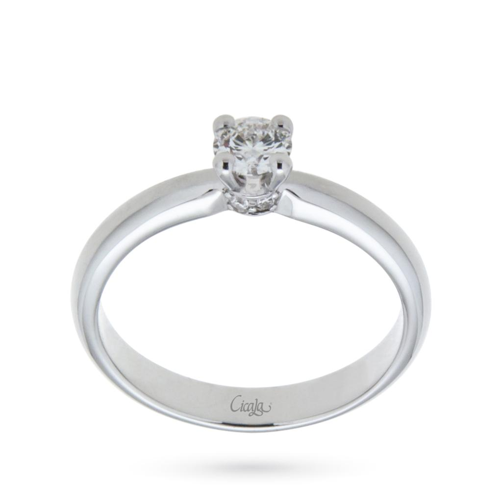 Engagement ring with diamond Elune collection 0,40ct D VS  - CICALA